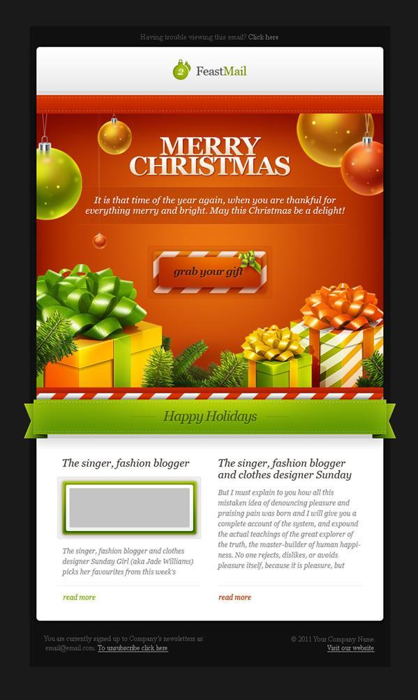 Feast Mail Christmas Email Template | 18$
