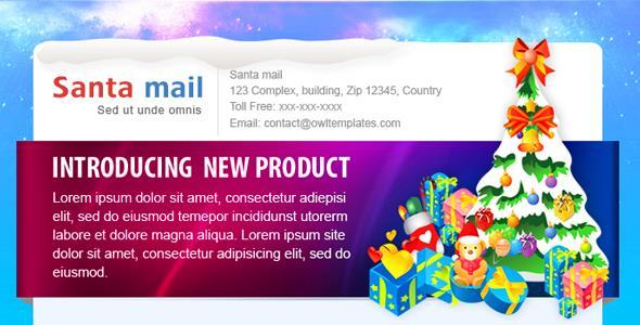 Santa Christmas Email Template | 8$