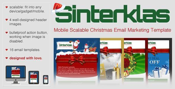 Christmas Mobile Scalable HTML Email - 15$
