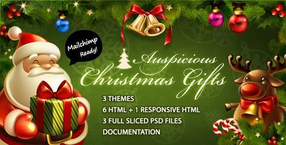 Christmas Gift Email Template Layout | 15$