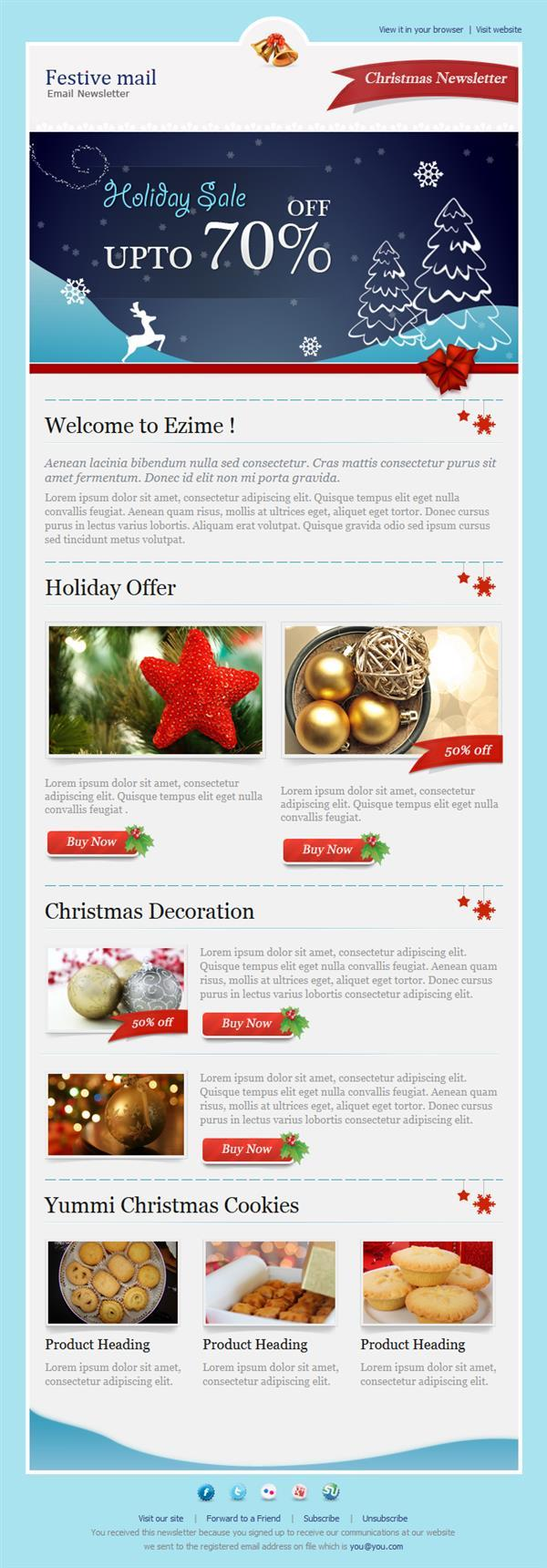 Festive mail Email Template | 15$