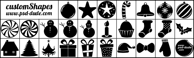 Free Christmas Vector Shapes
