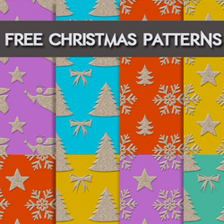 Free Christmas Gift Patterns for Photoshop psd-dude.com Resources