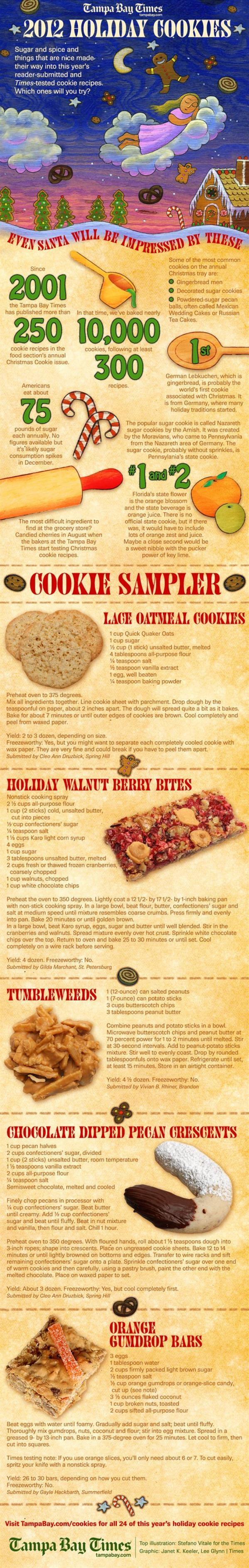 Christmas Holiday Cookies Infographic