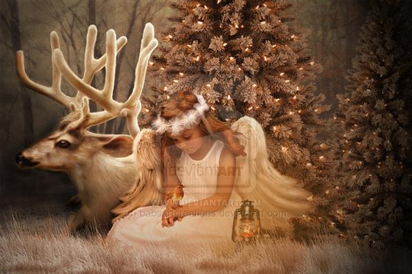 Christmas Angel by babsartcreations photoshop resource collected by psd-dude.com from deviantart