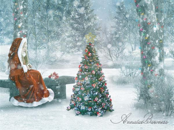 Christmas Child by LadyAnnatar photoshop resource collected by psd-dude.com from deviantart