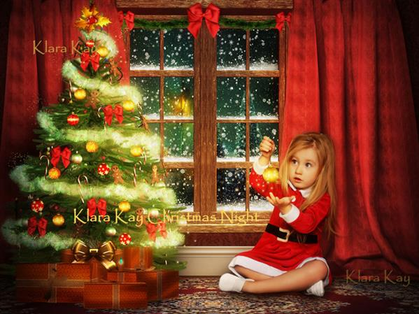 Christmas Night by KlaraKay photoshop resource collected by psd-dude.com from deviantart