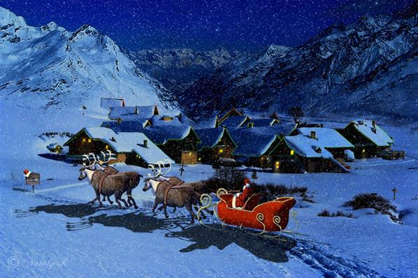 Christmas night by Nataly1st photoshop resource collected by psd-dude.com from deviantart