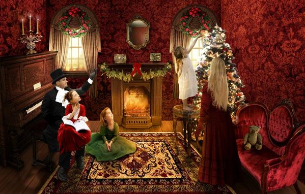 Victorian Christmas by Kimberly-M photoshop resource collected by psd-dude.com from deviantart