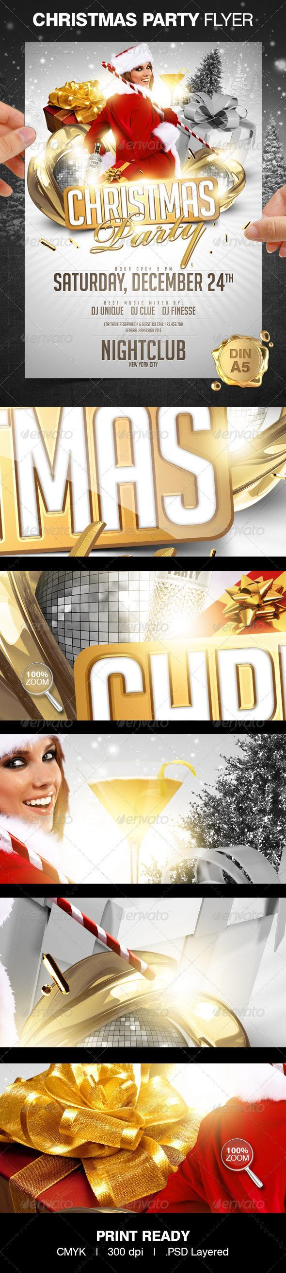 Christmas Party Flyer Design Poster preview