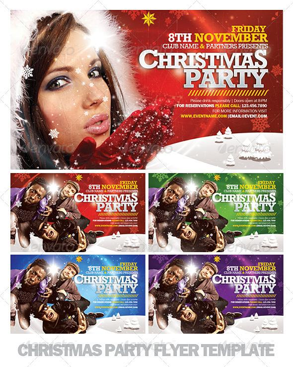 Christmas Party Color Cover Template