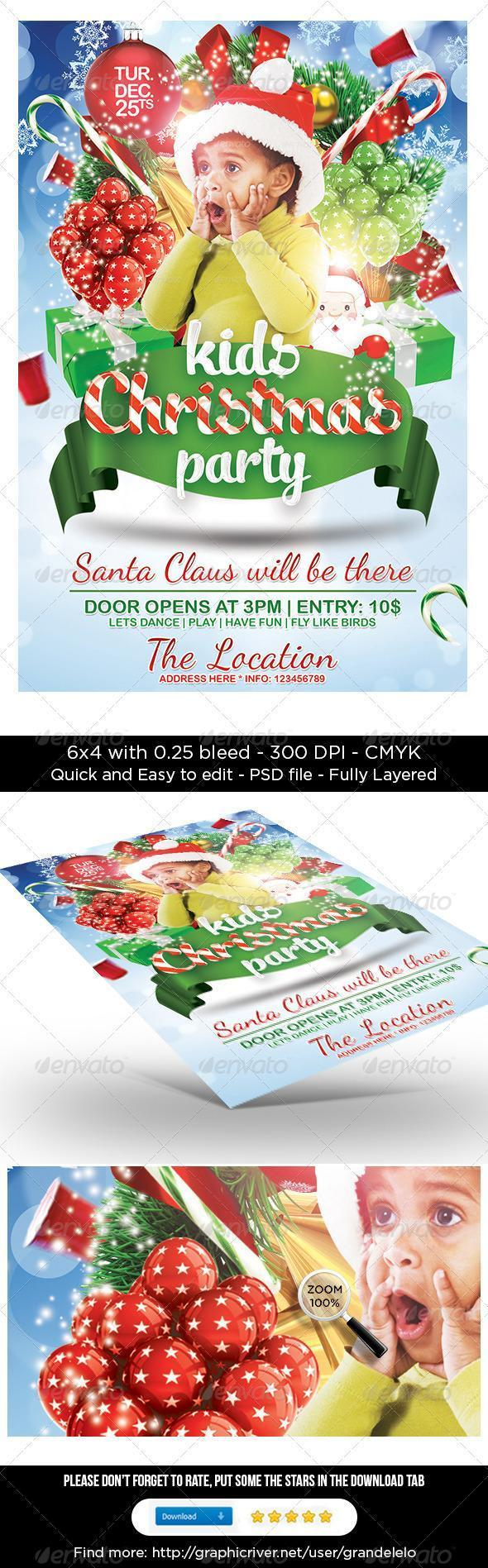 Kids Party Flyer Christmas