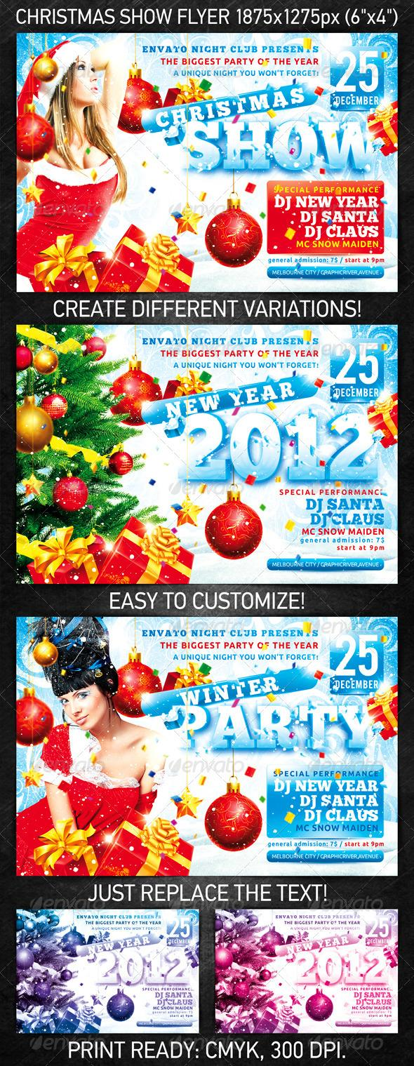 Christmas Girl Party Poster Template