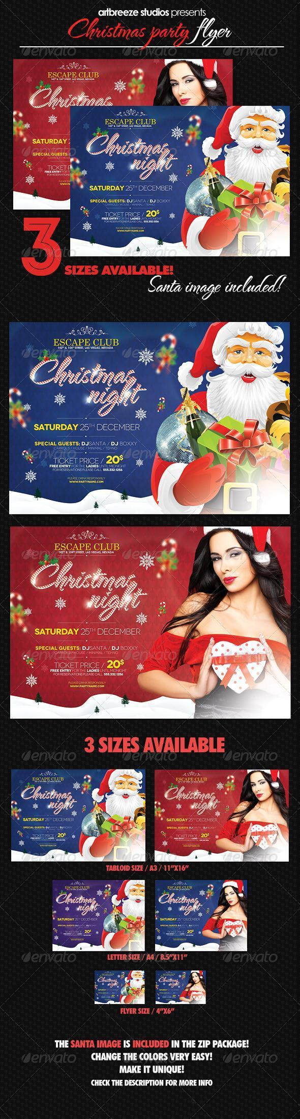 Santa Klaus Christmas Party Flyer
