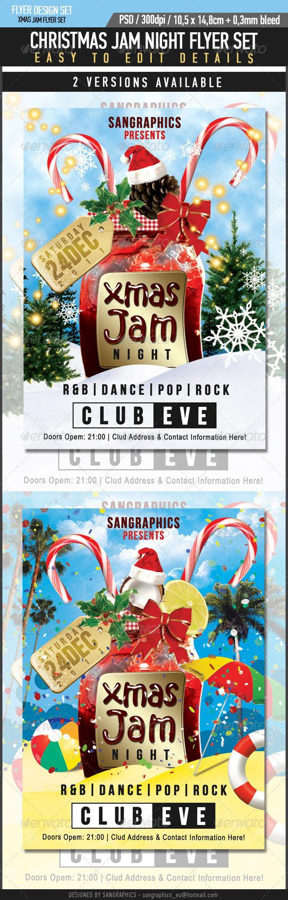 Xmas Jam Party Club Banner