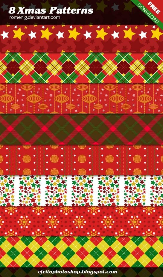 Beautiful Christmas Photoshop Patterns