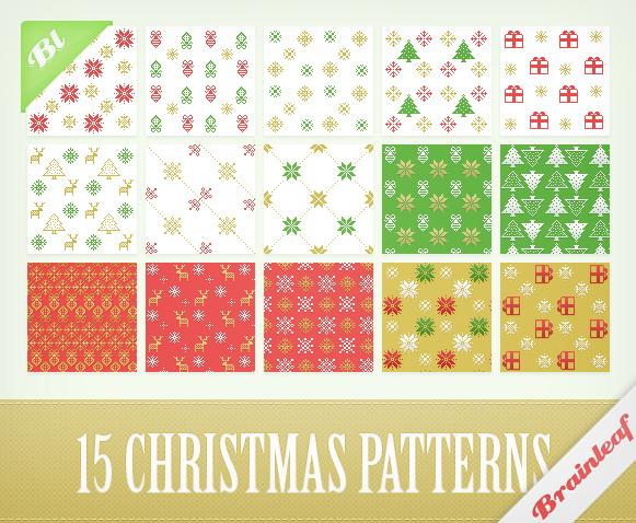 Pixelate Christmas Patterns