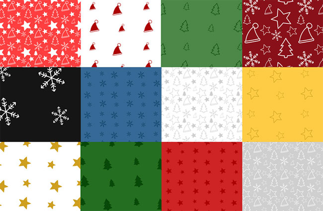 40 Christmas Background Patterns for Photoshop