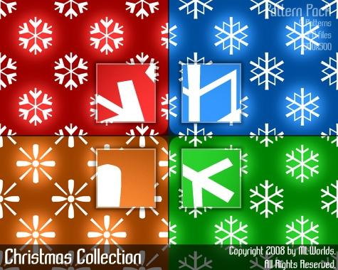 Christmas Collection of Photoshop Patterns