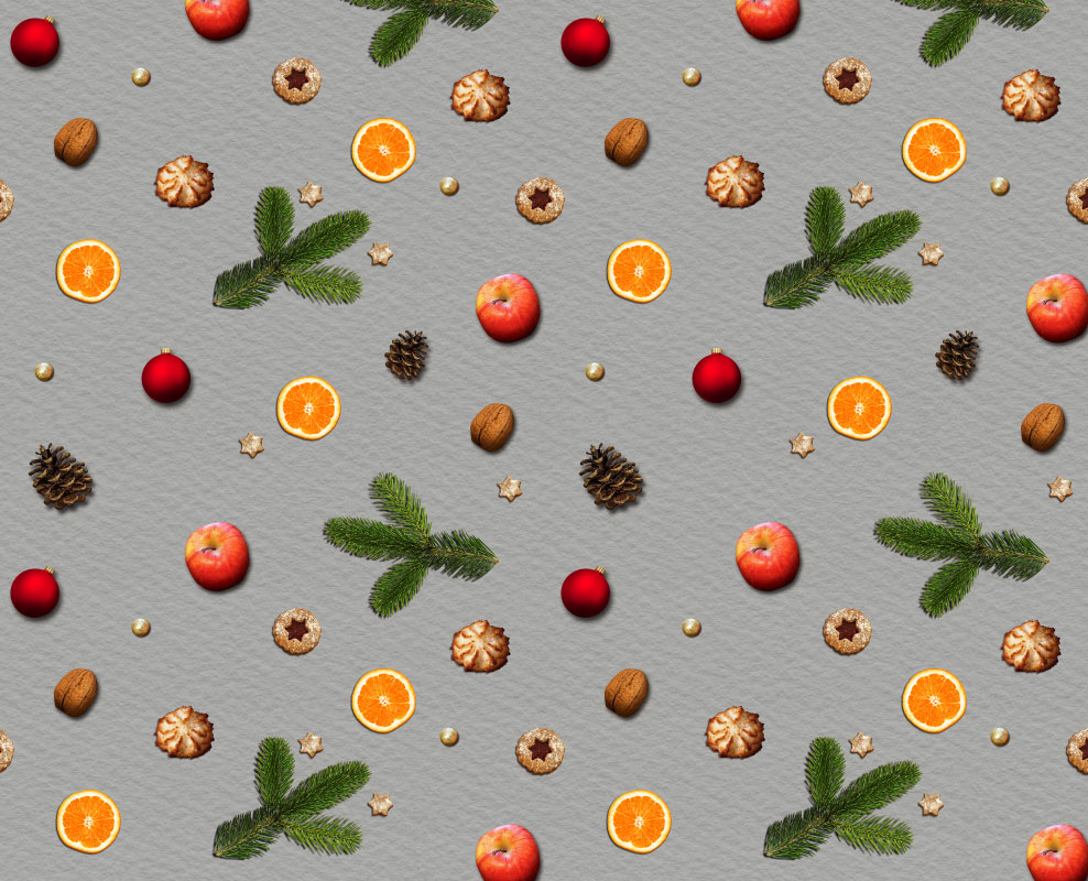 Cute Christmas Pattern Background