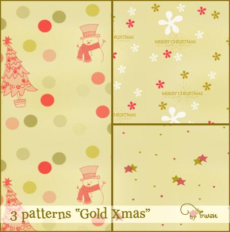 Gold Xmas Photoshop Patterns
