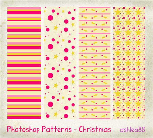 PS Patterns Christmas by ashzstock photoshop resource collected by psd-dude.com from deviantart