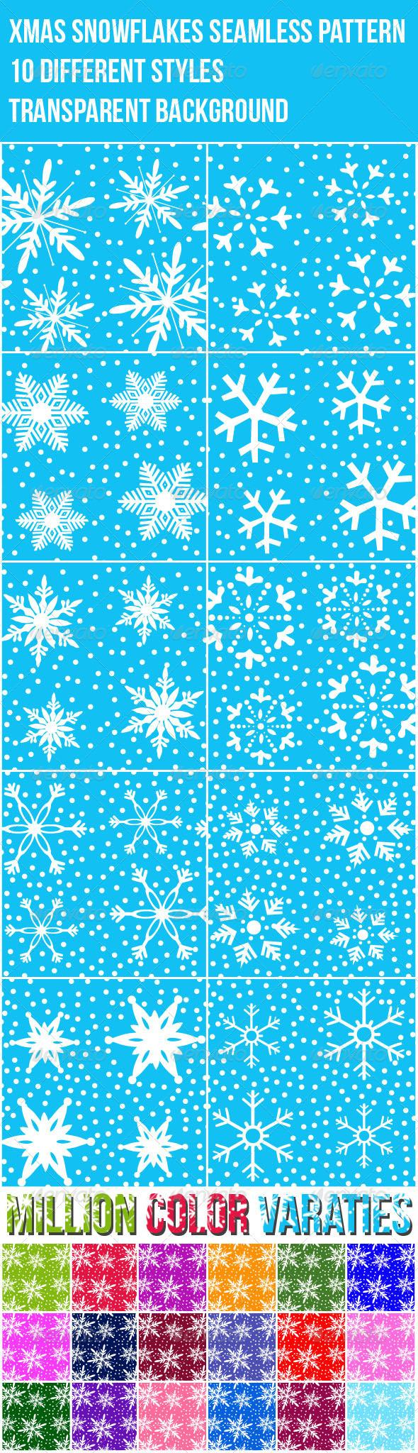 Snowflakes Christmas Photoshop Patterns