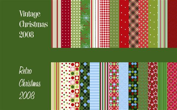 Vintage Retro Xmas Photoshop Patterns