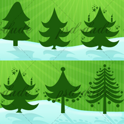 Christmas Tree Vector Shapes psd-dude.com Resources