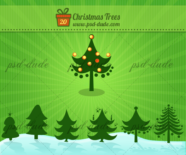Christmas Tree Photoshop Custom Shapes