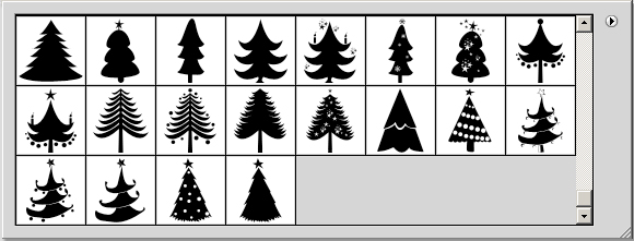 Worksheet. Christmas Tree Vector Shapes  PSDDude