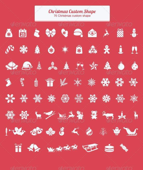 Christmas Custom Shapes