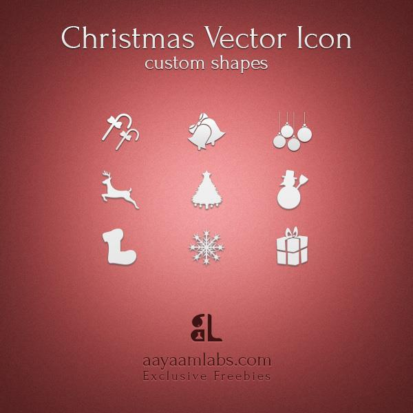 Christmas icons custom shape