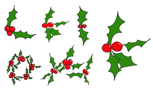 Mistletoe Christmas Custom Shapes for Photoshop