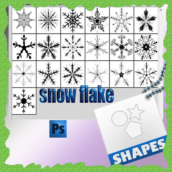 Snowflake Xmas Shapes