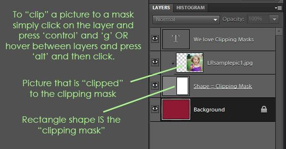 Clipping masks for photoshop elements