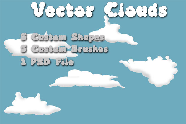 Clouds brushes and shapes by rev-jesse-c-stock photoshop resource collected by psd-dude.com from deviantart