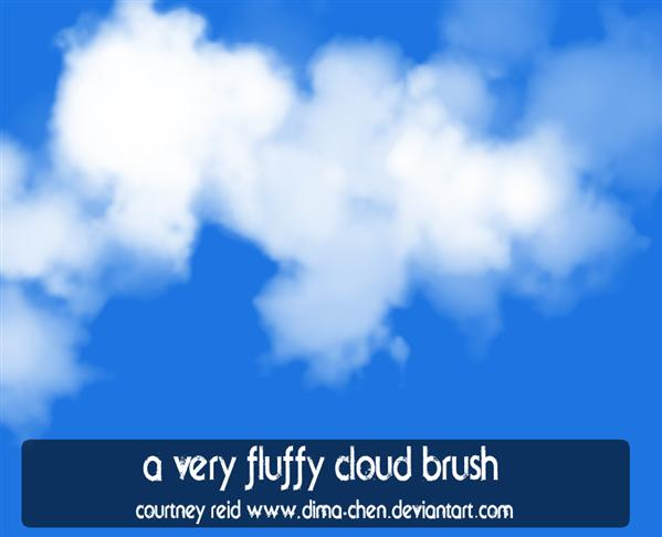 A Very Fluffy Cloud Brush by dima-chen photoshop resource collected by psd-dude.com from deviantart