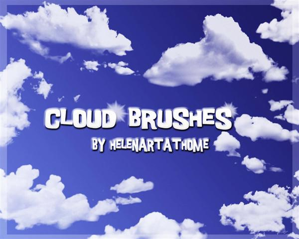Cloud and Ray Brushes by Helenartathome photoshop resource collected by psd-dude.com from deviantart
