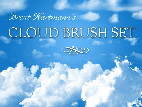 Cloud Brush Set 1 by Aiquandol photoshop resource collected by psd-dude.com from deviantart