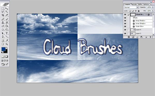 Cloud Brushes by Resaturatez photoshop resource collected by psd-dude.com from deviantart