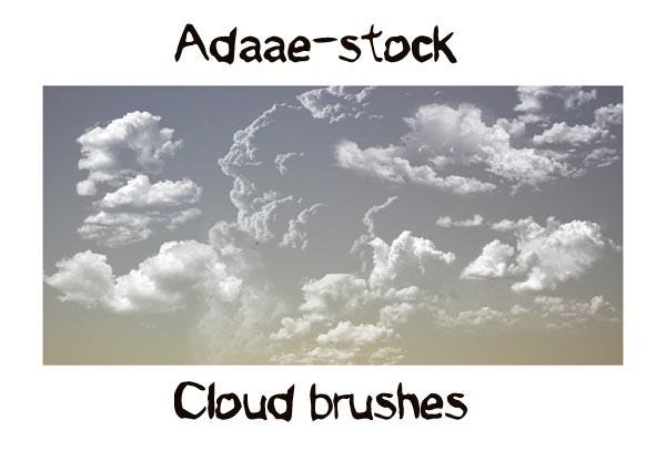 Cloud brushes by Adaae-stock photoshop resource collected by psd-dude.com from deviantart