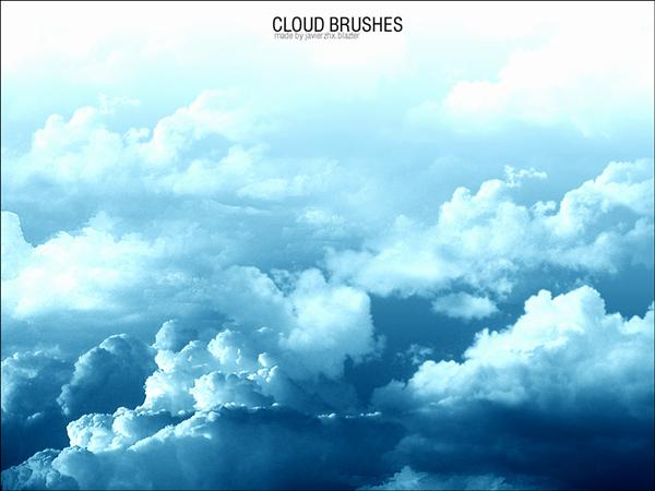 Cloud Brushes by JavierZhX photoshop resource collected by psd-dude.com from deviantart