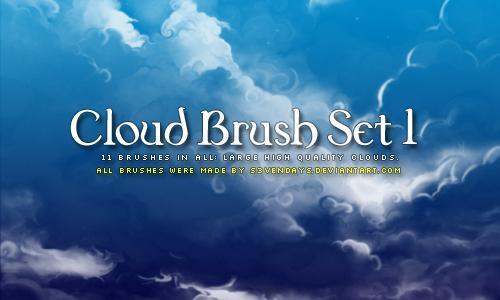 Clouds Brush Set 1 by s3vendays photoshop resource collected by psd-dude.com from deviantart