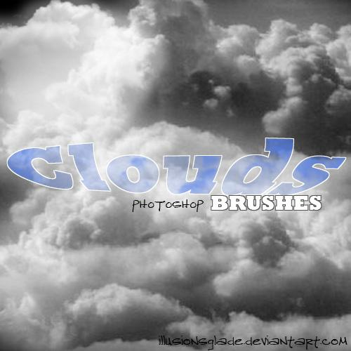 Clouds Brush Set by IllusionsGlade photoshop resource collected by psd-dude.com from deviantart