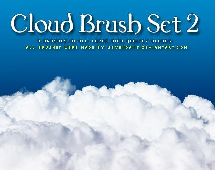 Clouds Brush Set 2 by s3vendays photoshop resource collected by psd-dude.com from deviantart