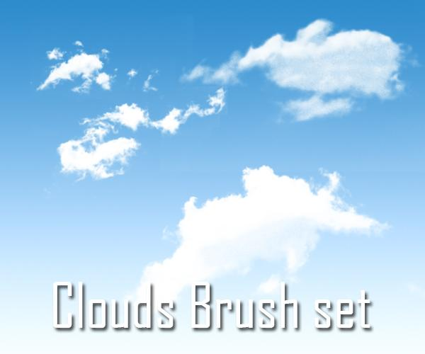 Clouds brush set by SiDiusBexter photoshop resource collected by psd-dude.com from deviantart