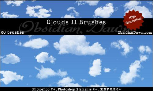 Clouds II Photoshop Brushes by redheadstock photoshop resource collected by psd-dude.com from deviantart