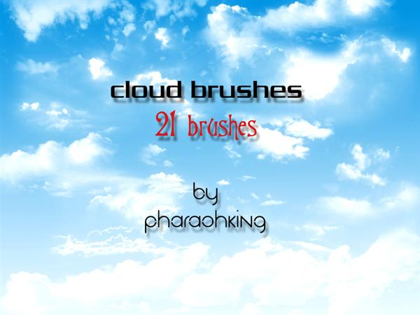 clouds photoshop brushes by pharaohking photoshop resource collected by psd-dude.com from deviantart