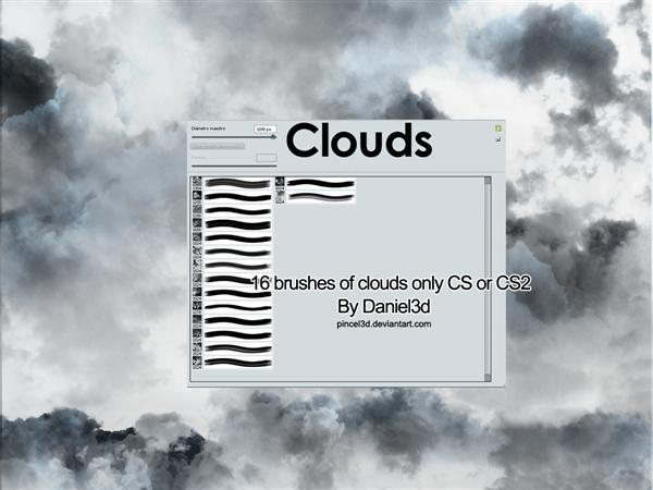 Clouds Version I by pincel3d photoshop resource collected by psd-dude.com from deviantart